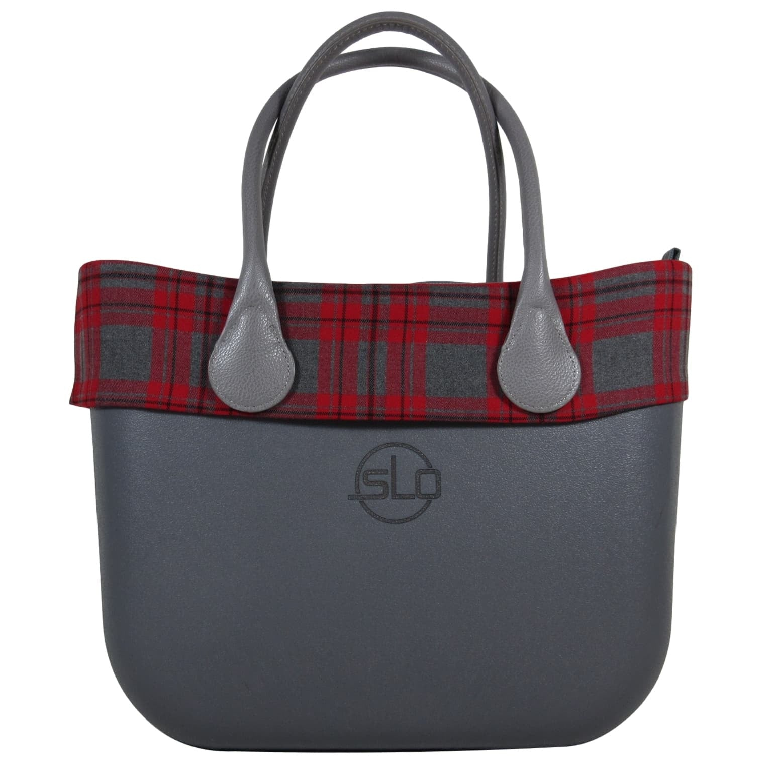 SLOW SLO Fashion Grande Handbag Bonnie Tartan designer travel or every day tote