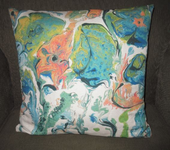 Retro flowers pillow cover