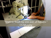Hemming, Marking, Collating Aprons In The USA