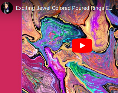 Jewel Colored Poured Rings