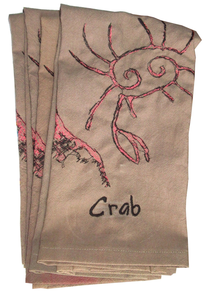Coral Crab Art Towels by Haley Brianna Atwell