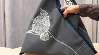 Bird Market Bag in Grey Linen