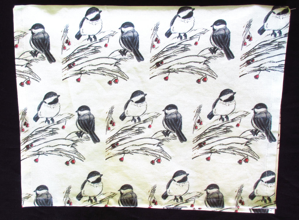Chickadee Art Print Tea Towel