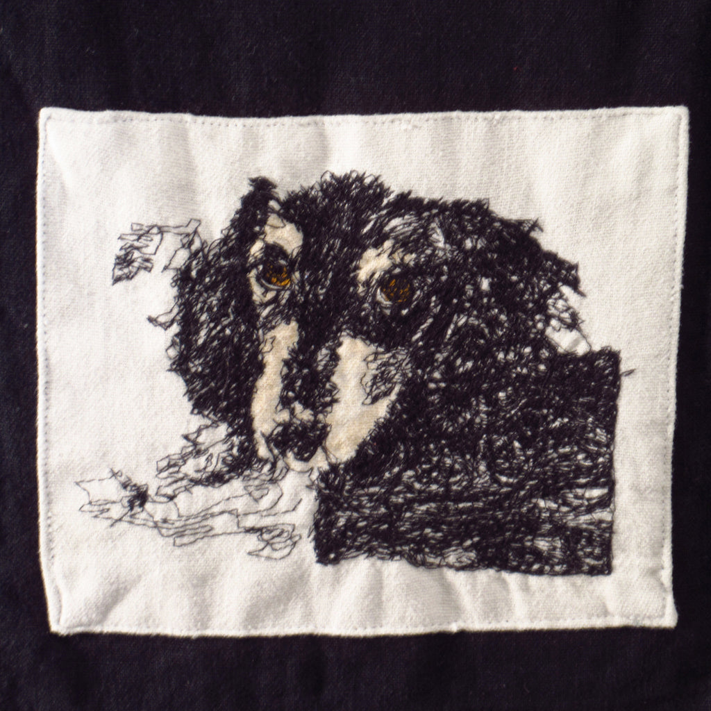 dachshund on linen towel - last one!