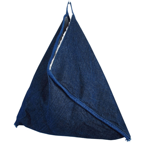 Large Denim Market Bag Made in USA by Handes of a Woman