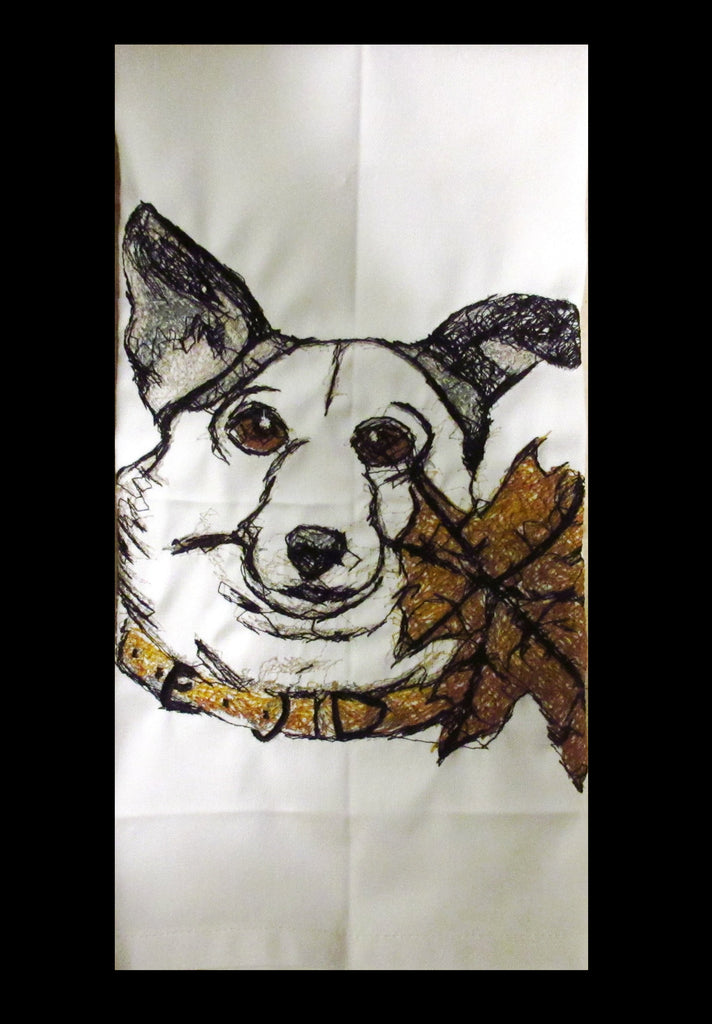 Dog With Leaf Towel