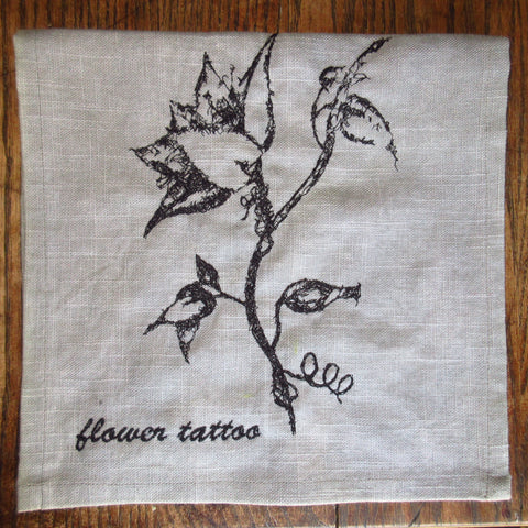 Flower Tattoo Art Towel by Erin Murphy