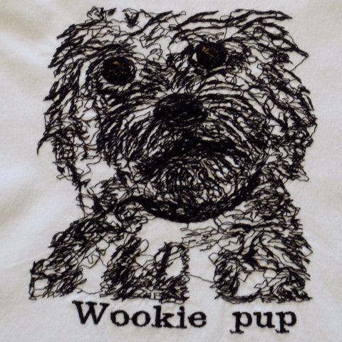Maltipoo Wookie Pup Embroidered Cotton Towel