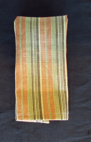 Set of 4 Vintage-Stripe Linen Bar Mops Napkins or Small Towels