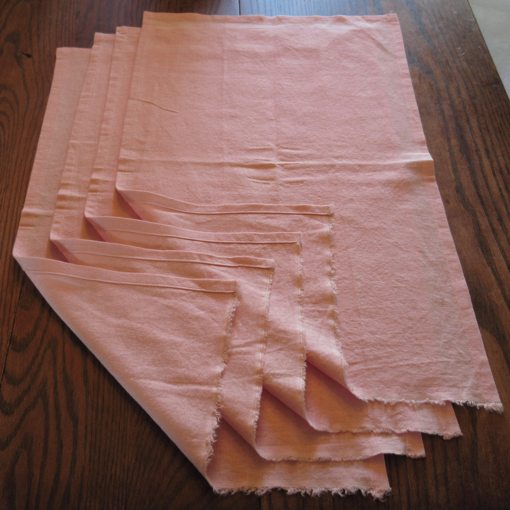 Handes of  a Woman Pink Linen Rayon Towel Napkin or Place Mat - Set of 4