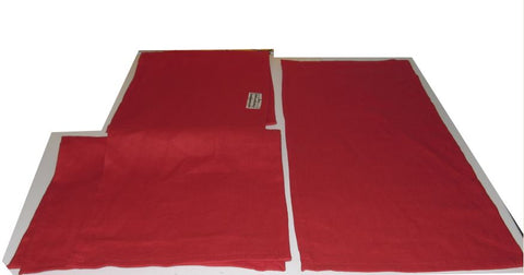Red linen towel
