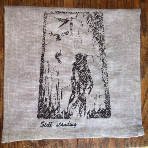 Figure with Birds Towel