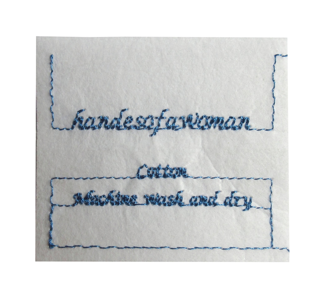 Custom Sew-In Tag For Handcrafted Cotton Items