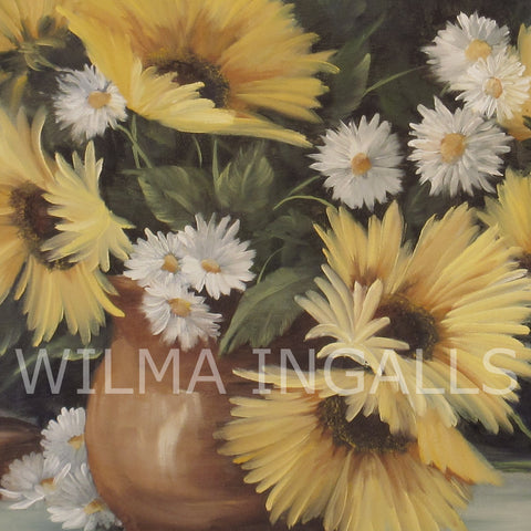 Sunflowers and funny daisies