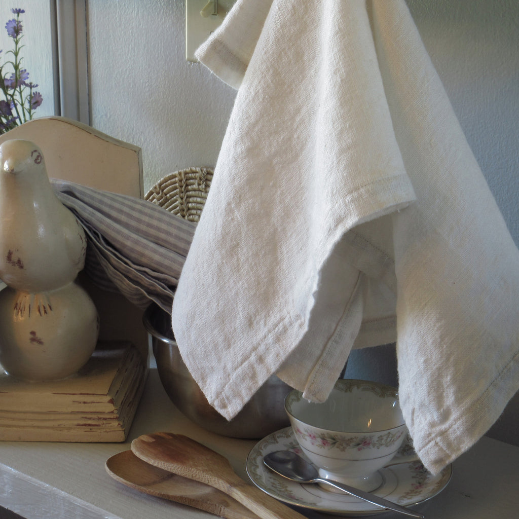 white linen towel - last one!