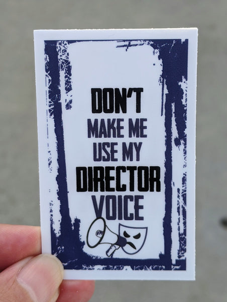 Director Voice Theater Theatre sticker, vinyl, waterproof