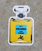 CHLORINE IS MY PERFUME swim sticker, vinyl, waterproof