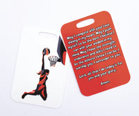 Basketball prayer, basketball player's prayer, basketball Bag Tag, basketball luggage tag