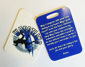 Wrestler's Prayer, wrestle prayer, wrestle Bag Tag, wrestle luggage tag