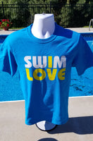 Swim love, I Love t-shirt