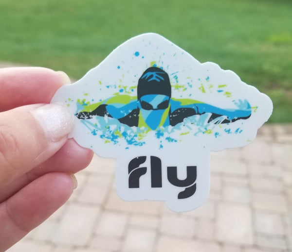BUTTERFLY swim sticker, vinyl, waterproof