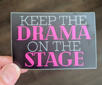 Drama on the Stage Theater Theatre sticker, vinyl, waterproof