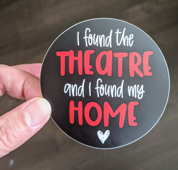 Theatre Love Drama Theater Theatre sticker, vinyl, waterproof