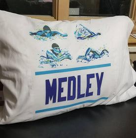 Medley Custom Swim Pillow Case - FlipTurnTags
