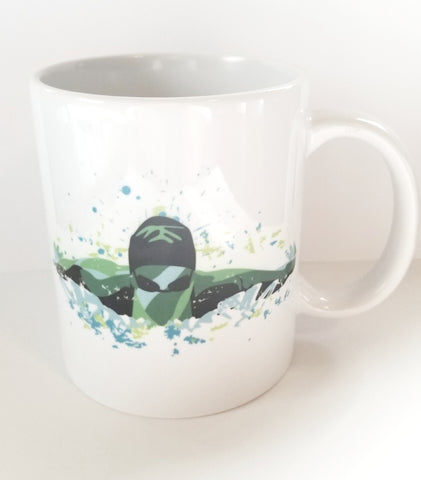 Custom 11oz coffee mug, Swimming, swim BUTTERFLY