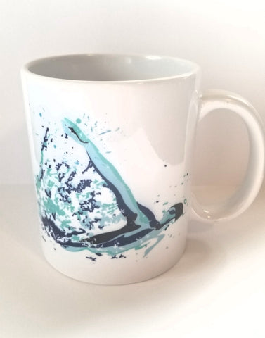 Custom 11oz coffee mug, Swimming, swim BACKSTROKE