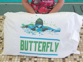 Butterfly Custom Swim Pillow Case - FlipTurnTags