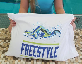 Freestyle Custom Swim Pillow Case - FlipTurnTags