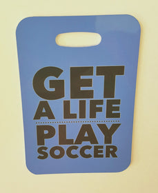 SOCCER Bag tag, Get a life, play soccer, soccer gift Luggage Tag - FlipTurnTags