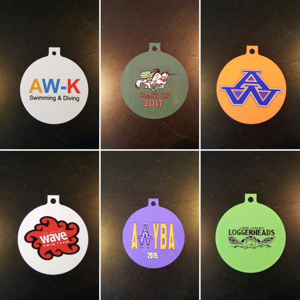 Custom Aluminum Ornament - FlipTurnTags