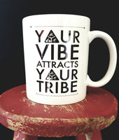 Your Vibe Attracts Your Tribe Triathlete mug - FlipTurnTags