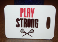 Lacrosse Play Strong Bag Tag Luggage Tag - FlipTurnTags