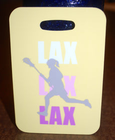 Lacrosse LAX Girl Tag Luggage Tag lacrosse Bag lacrosse bag tag LAX - FlipTurnTags