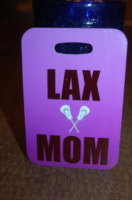 Lacrosse LAX MOM Tag Luggage Tag - FlipTurnTags