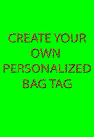 Create Your Own Bag Tag, Luggage Tag - FlipTurnTags