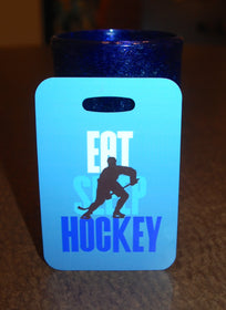 Eat Sleep Hockey Bag Tag Luggage Tag - FlipTurnTags