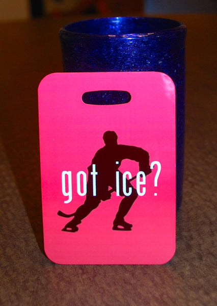 Hockey Got Ice? Bag Tag Luggage Tag - FlipTurnTags