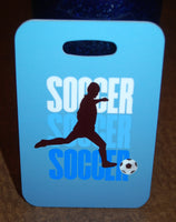 Soccer Silhouette Bag Tag - FlipTurnTags