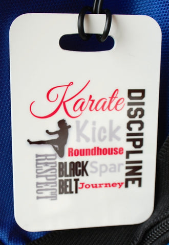 Karate Bag Tag, Sport Bag Tag,  Party favor - FlipTurnTags