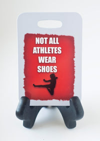 Not All Athletes Wear Shoes Karate Bag Tag - FlipTurnTags