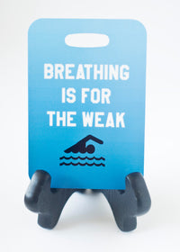 Breathing is for the Weak Swim Bag Tag, Sport Bag Tag, Swim Team Bag Tag, Swim Party favor - FlipTurnTags