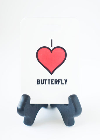 "I ""Heart"" Butterfly Swim Bag Tag, Sport Bag Tag, Swim Team Bag Tag, Swim Party favor - FlipTurnTags"