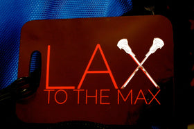Lacrosse LAX Bag Tag Sport Tag LAX to the MAX Luggage Tag - FlipTurnTags