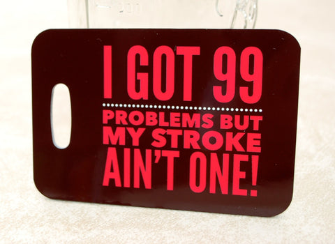 I Got 99 Problems Swim Bag Tag, Sport Bag Tag, Swim Team Bag Tag, Swim Party favor - FlipTurnTags
