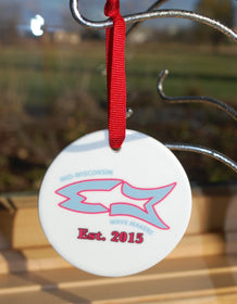 Custom Ceramic Ornament - FlipTurnTags