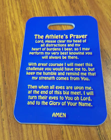 An Athletes Prayer Swim Bag Tag, Sport Bag Tag, Swim Team Bag Tag, Swim Party favor Inspirational Gift Personalized - FlipTurnTags